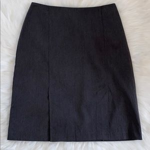 B Moss Stretch Gray Skirt Size 8 Double Front Slit